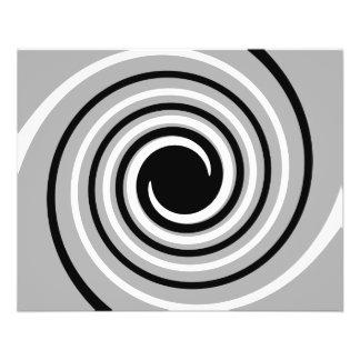 Conception de noir, blanche et grise de torsion tract customisé