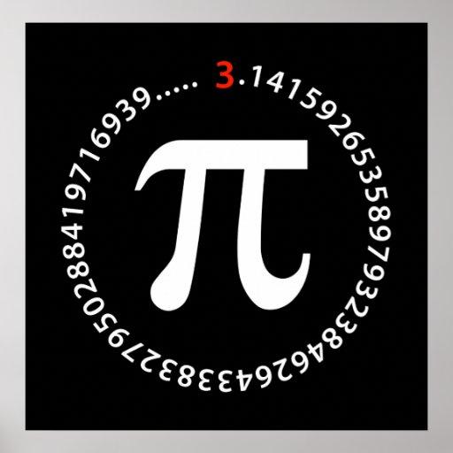 Conception de nombre de pi posters