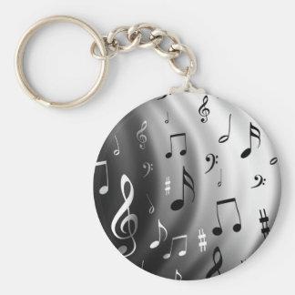 Conception de notes musicales porte-clés