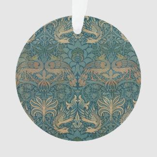 Conception de paon de William Morris et de textile