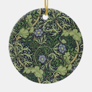 Conception de papier peint d'algue, imprimée par ornement rond en céramique