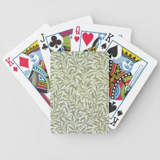 """Conception de papier peint """"de branche de saule"""",  jeux de cartes"""