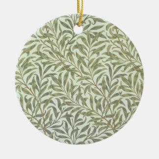 """Conception de papier peint """"de branche de saule"""", ornement rond en céramique"""