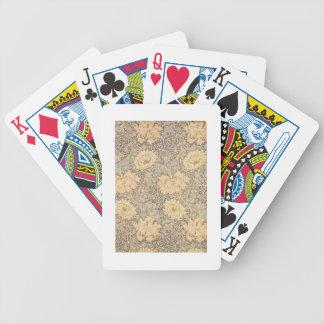 """Conception de papier peint de """"chrysanthème"""", 1876 jeu de cartes"""