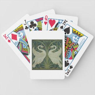 """Conception de papier peint de """"cygne, de précipita jeux de cartes"""