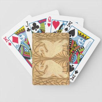 Conception de papier peint de cygne jeu de cartes