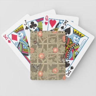 Conception de papier peint de treillis avec un bac cartes à jouer
