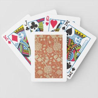 Conception de papier peint de tulipe, 1875 jeu de poker