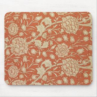 Conception de papier peint de tulipe, 1875 tapis de souris