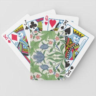 Conception de papier peint floral cartes à jouer