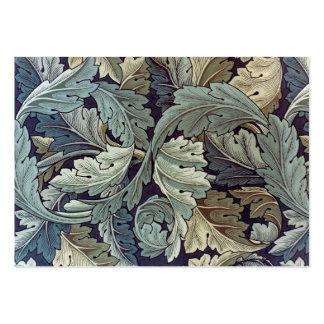Conception de papier peint floral d'acanthe de carte de visite grand format