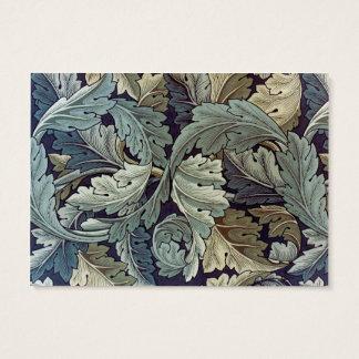 Conception de papier peint floral d'acanthe de cartes de visite