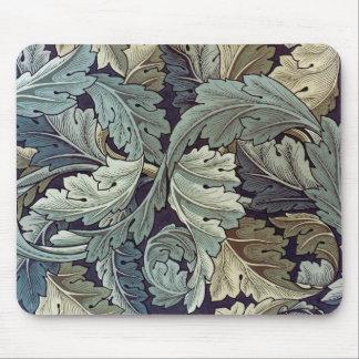 Conception de papier peint floral d'acanthe de tapis de souris
