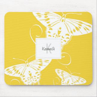 Conception de papillon sur Mousepad Tapis De Souris