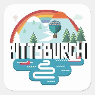 Conception de Pittsburgh, paysage urbain de la Sticker Carré