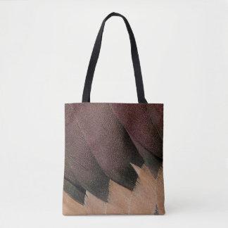 Conception de plume de canard de canard pilet tote bag