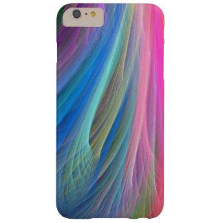 Conception de plume de couleur d'arc-en-ciel coque iPhone 6 plus barely there