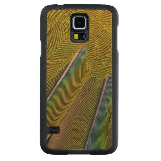 Conception de plume de Jenday Conure Coque Slim Galaxy S5 En Érable