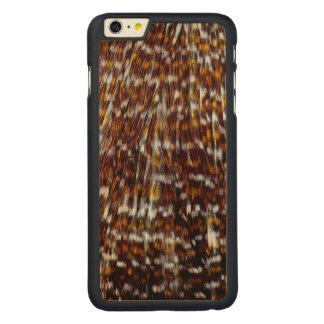 Conception de plume de plume de cou coque en érable iPhone 6 plus