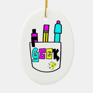 conception de protecteur de poche de cmyk de geek ornement ovale en céramique