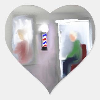 Conception de raseur-coiffeur autocollants en cœur