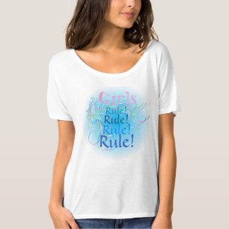 Conception de règle de filles t-shirt