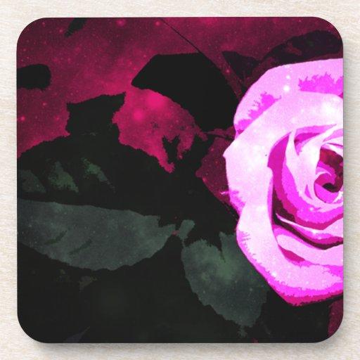 Conception de rose enchanteuse sous-bock
