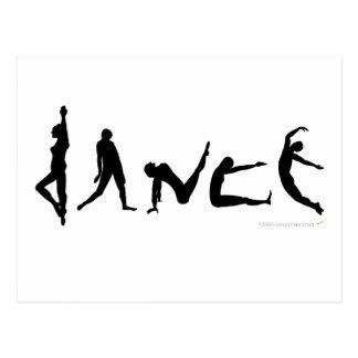 Conception de silhouette de danse de danse cartes postales