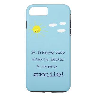 Conception de sourire de ciel bleu de Sun de jour Coque iPhone 7 Plus