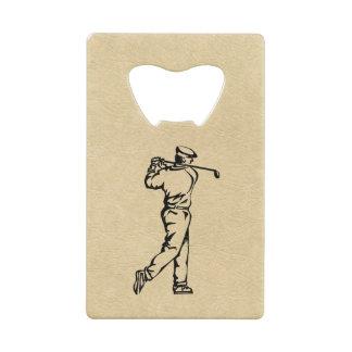 Conception de sport de golfeur simili cuir