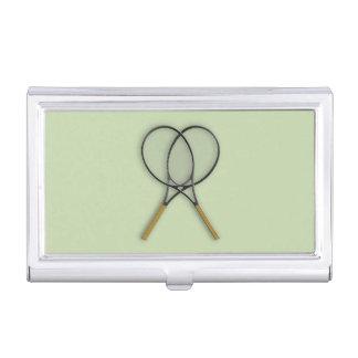 Conception de sports de raquettes de tennis étui pour cartes de visite