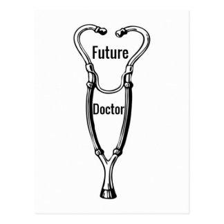Conception de stéthoscope pour les médecins carte postale
