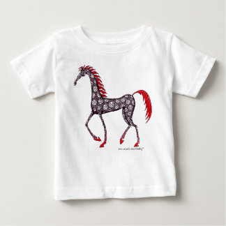 Conception de T-shirt de bébé de dessin d'encre de