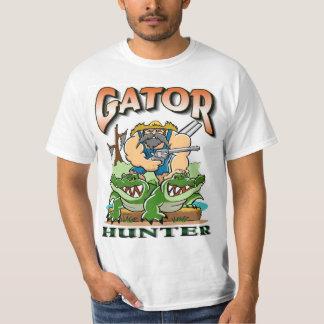 Conception de T-shirt de chasseur d'alligator de