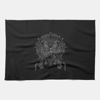 Conception de tatouage de mandala de dragon serviette éponge