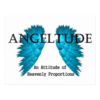Conception de tee - shirt d'Angeltude (attitude) Carte Postale