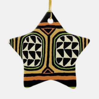 Conception de textile de Kuba d'Africain Ornement Étoile En Céramique