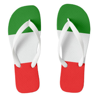 Conception de Tricolore de drapeau de l'Italie Tongs