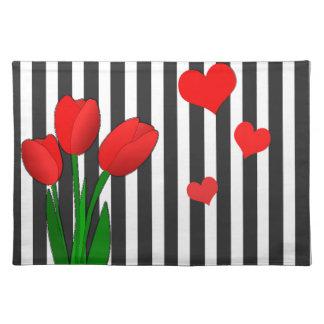 Conception de tulipes set de table