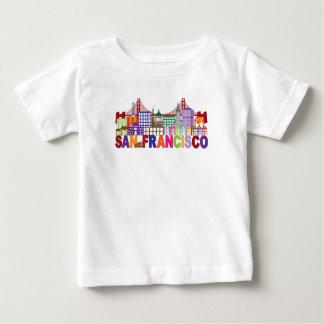 Conception de typographie de San Francisco, la T-shirt Pour Bébé