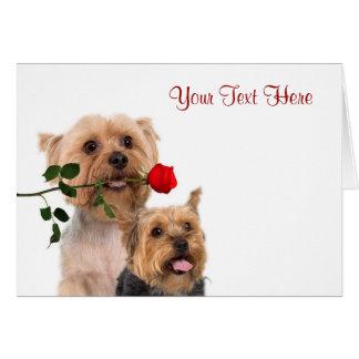 Conception de Valentine de rose rouge de Terrier s Cartes De Vœux
