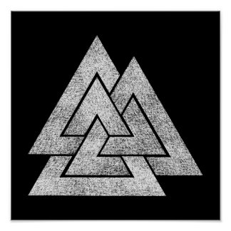 Conception de Valknut Viking Poster