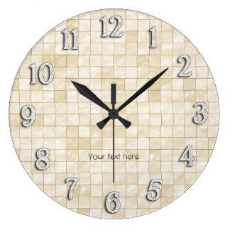 Conception décorative crème de tuile horloges