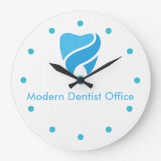 Conception décorative de bureau de dentiste grande horloge ronde
