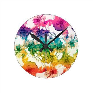 Conception décorative de remous floraux horloges