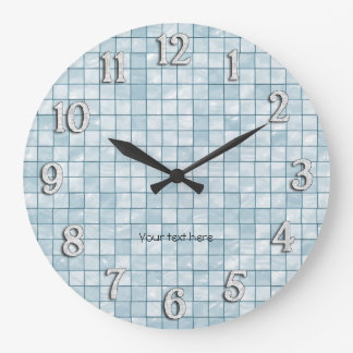 Conception décorative de tuile d'Aqua Grande Horloge Ronde