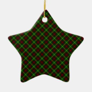Conception d'écossais de tartan de clan de Martin Ornement Étoile En Céramique