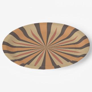 Conception d'étoile d'épice de citrouille assiettes en papier