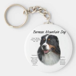 Conception d'histoire de chien de montagne de Bern Porte-clé Rond