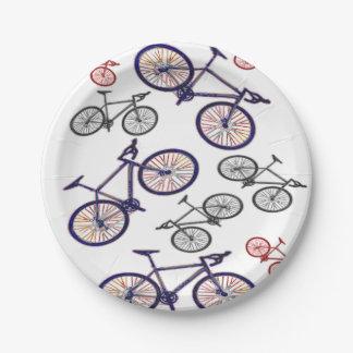 Conception d'impression de bicyclette assiettes en papier